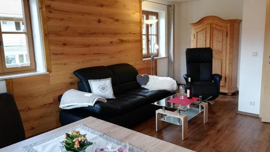 Wohnzimmer Alpenrose, © Haus Alpensonne - Bolsterlang