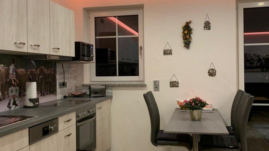Küchenbereich in der Ferienwohnung Horizont, © Familie Busch
