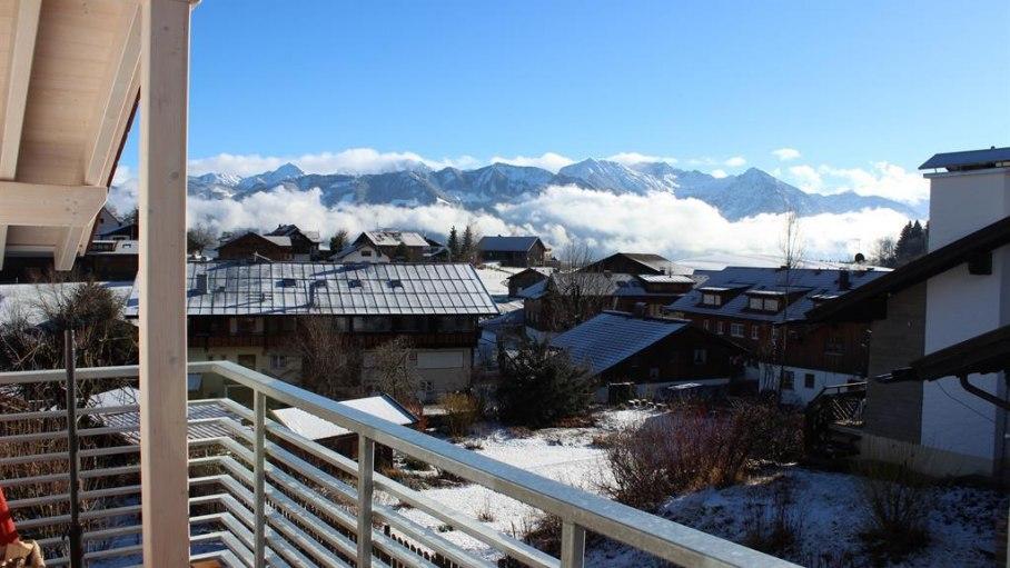 Aussicht auf die Alpen, © Bergblick Lodge - Ofterschwang
