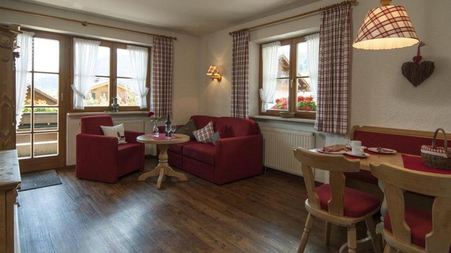 Ferienwohnung 4 - Wohnschlafzimmer, © Landhaus Exclusiv - Bolsterlang