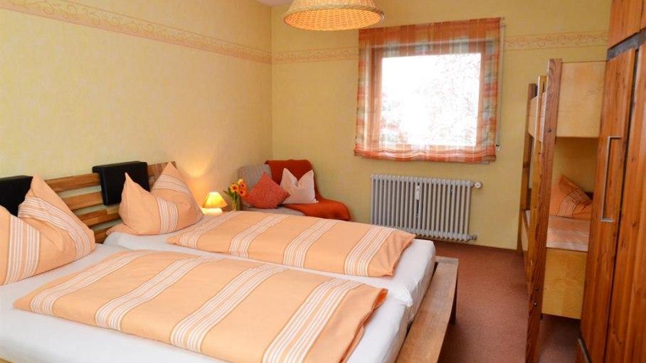 Ferienwohnung Alpenglück - Schlafzimmer, © Anja Socher