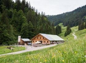 Die Alpe Zunkleiten im Bolgental bei Bolsterlang, © Tourismus Hörnerdörfer