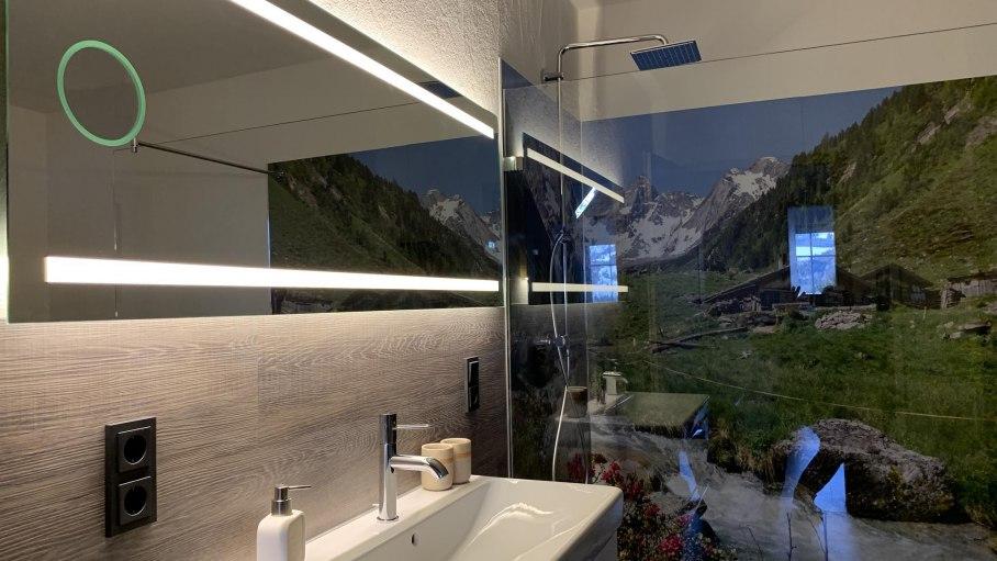 Badezimmer der Ferienwohnung Horizont, © Familie Busch