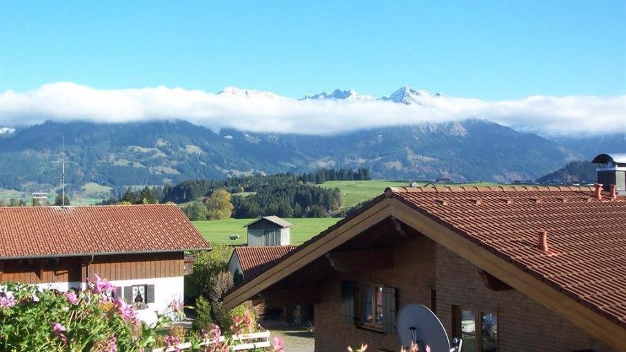 Ferienwohnung Hohla, Ausblick vom Balkon