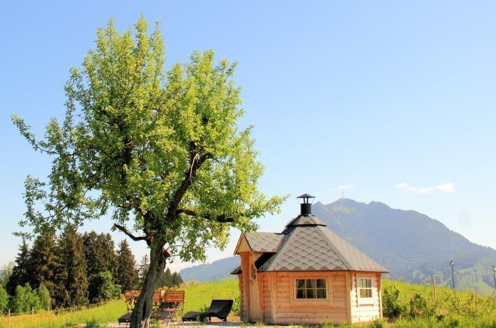Grillhütte mit Sonnenterrasse, © Alpen Lodge Allgäu - Ofterschwang