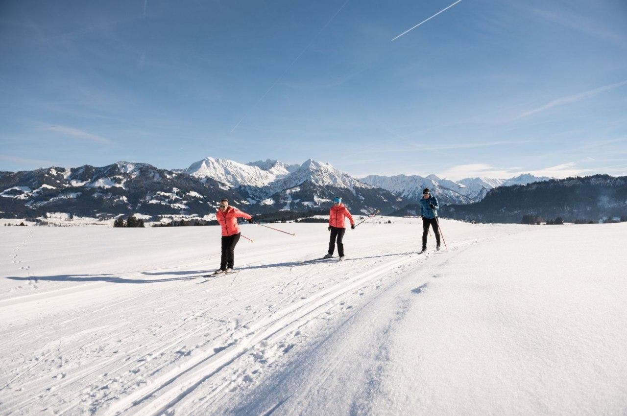 Langlaufen in Bolsterlang, © Tourismus Hörnerdörfer, F. Kjer