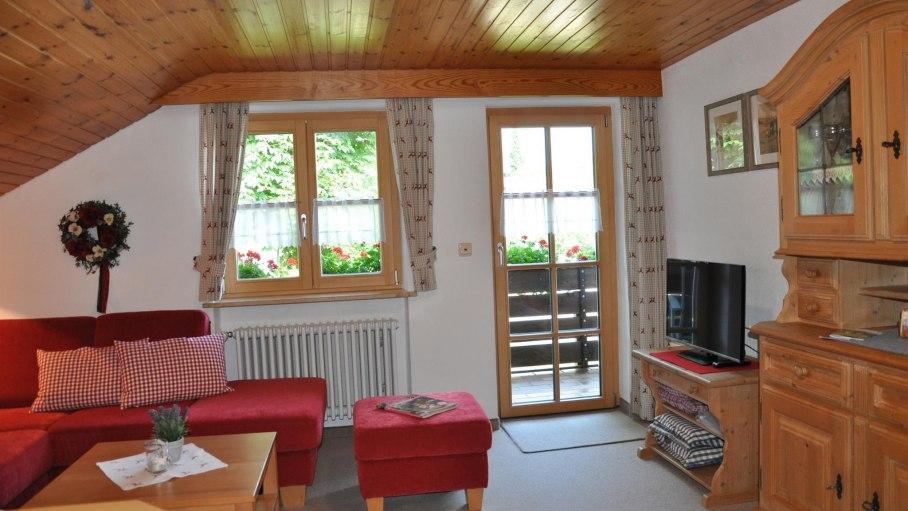 Ferienwohnung Sonnenkopf - Wohnstube