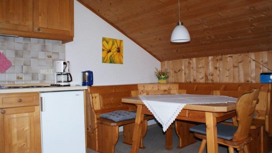Essbereich Wohnung 4 - Haus Bergsicht in Fischen, © Haus Bergsicht - Fischen i. Allgäu