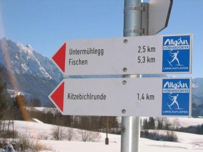 Kitzebichl Loipe - Langlaufen in Bolsterlang