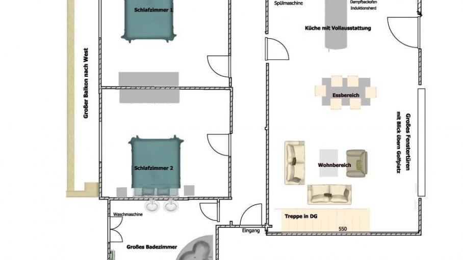 Blue Lodge - Grundriss Obergeschoss, © Das Talgut - Ofterschwang