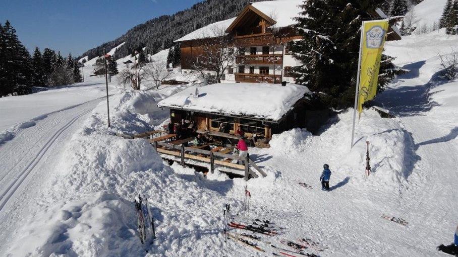 Ferienhof Almfrieden - auch Loipe direkt vorm Haus