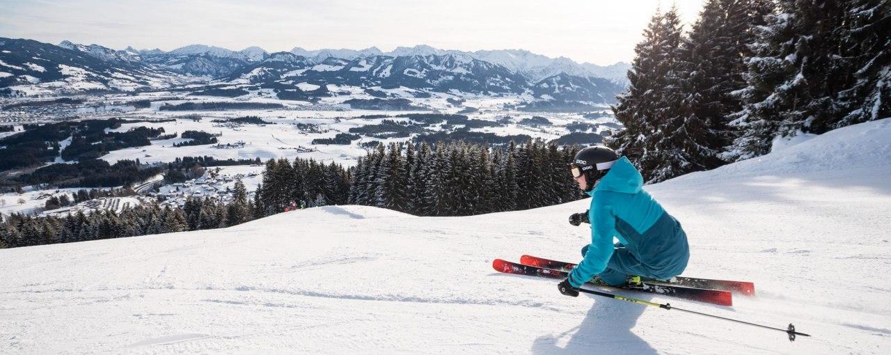 Skigebiet Ofterschwang-Gunzesried - Jägerabfahrt, © Tourismus Hörnerdörfer, F. Kjer