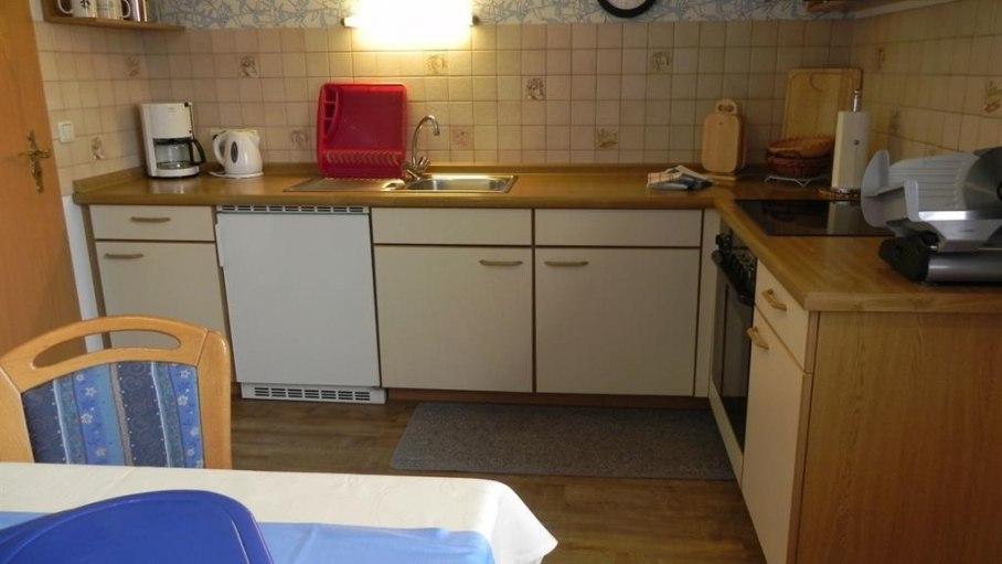 Ferienwohnung Blau - Küche, © Ferienwohnungen Irmela Vogler - Fischen i. Allgäu