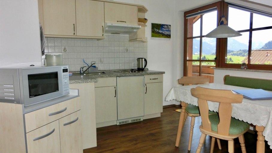Ferienwohnung Edelweiß - Küche, © Haus Alpensonne - Bolsterlang
