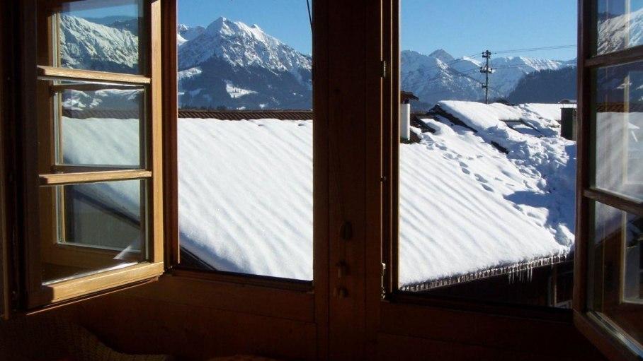 Fewo Seeger Bergblick vom Wintergarten