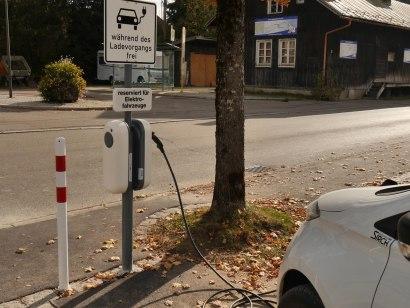 Ladestation für E-Autos in Fischen Ort, © Tourismus Hörnerdörfer