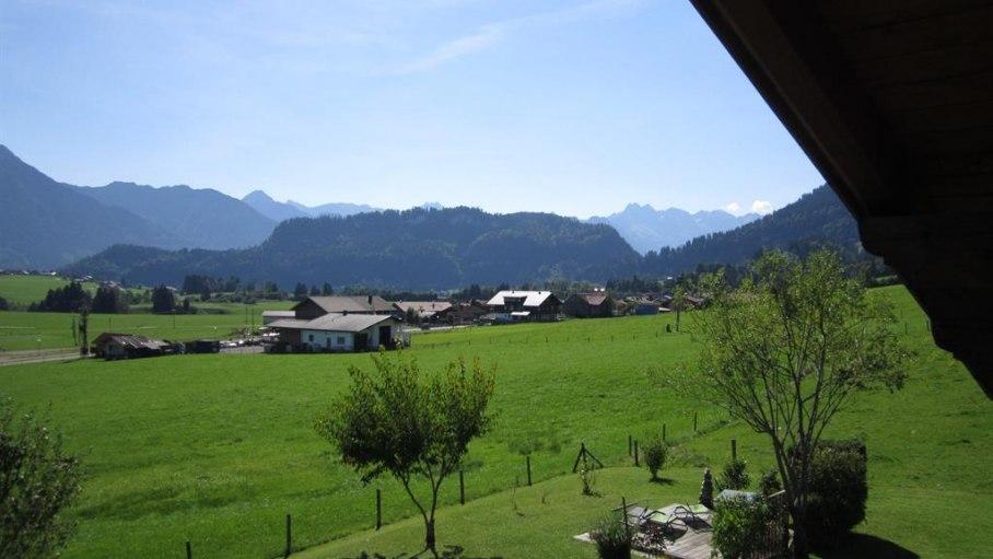 Unverbauter Blick in die Allgäuer Alpen, © Gästehaus Renn