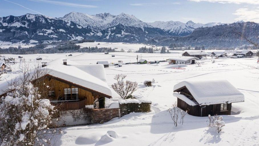 Blick in die Allgäuer Alpen, © Gästehaus Renn