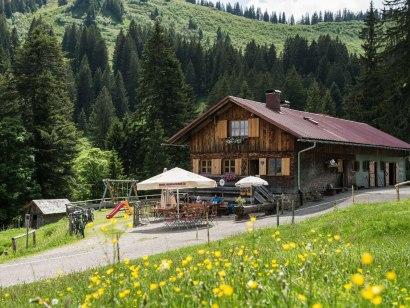 Die Alpe Bolgen liegt idyllisch im Bolgental bei B, © Tourismus Hörnerdörfer, F. Kjer
