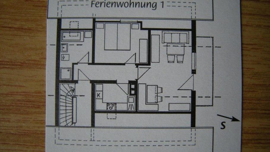 Grundriss FeWo 1 DSCN0083, © Marianne Vogler