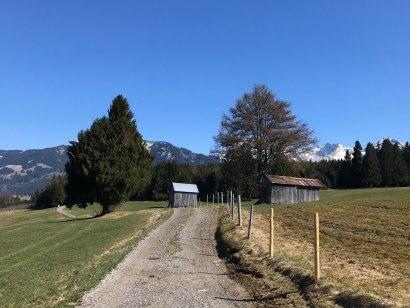 Gut präparierte Wege führen nach Oberdorf