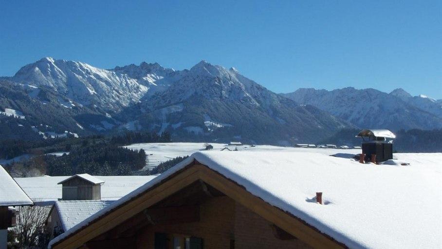 Ferienwohnung Himmelreich, Bergblick im Winter