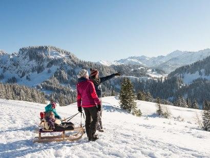 Winterwandern Grasgehren zur Mittelalpe - Obermaiselstein