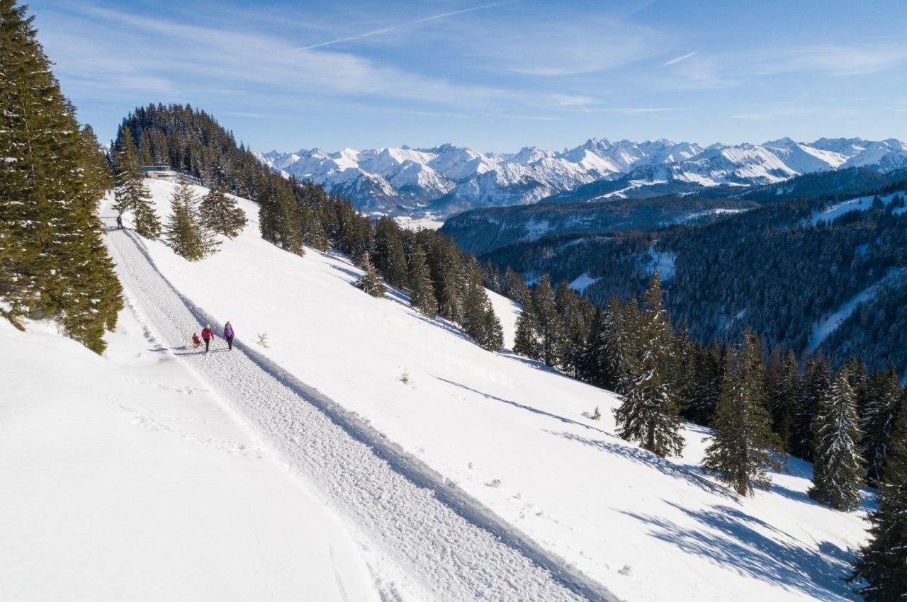 Höhenwinterwanderwg Bolsterlang im Allgäu, © Tourismus Hörnerdörfer, F. Kjer