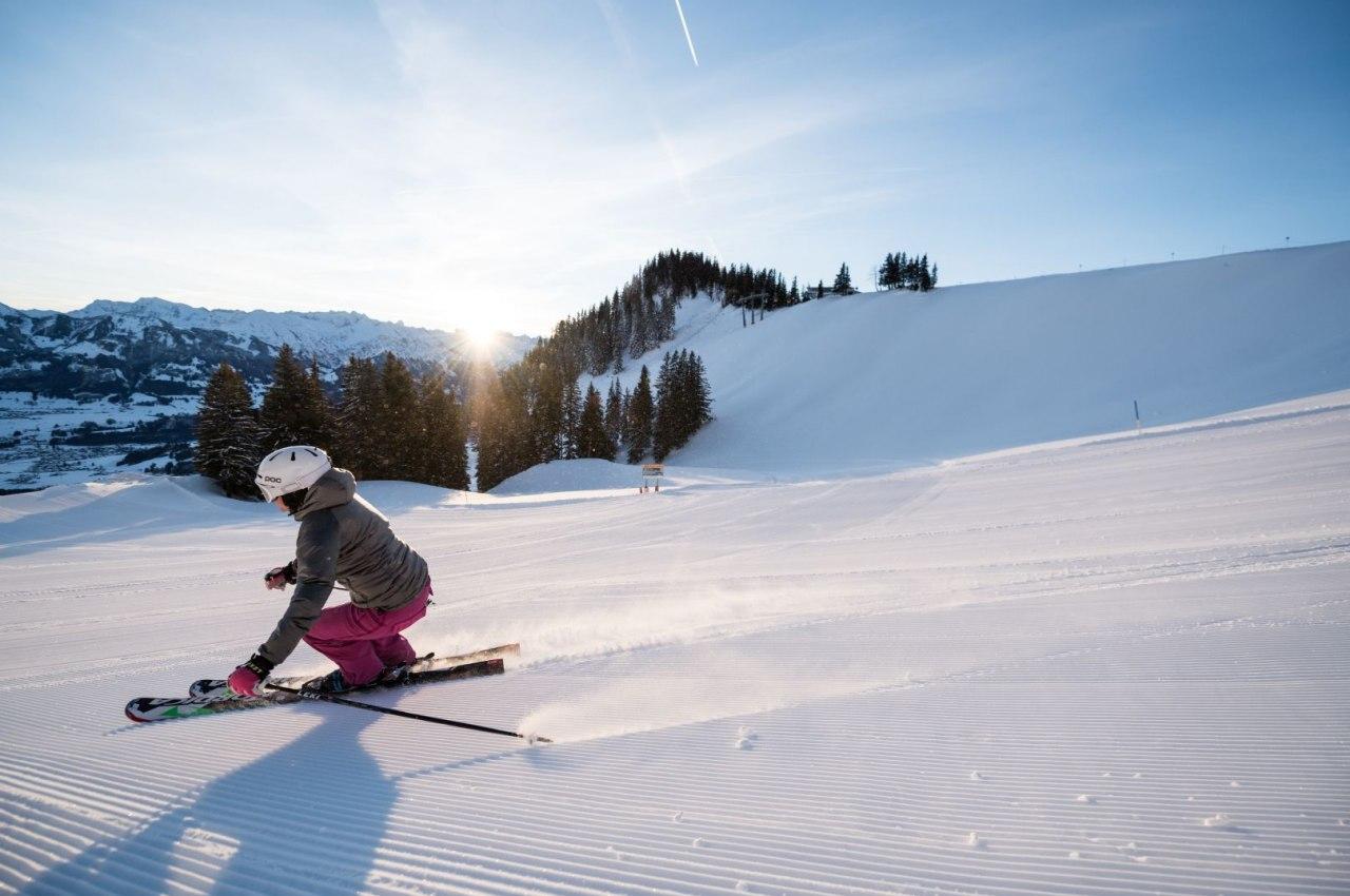 Skifahrer in Bolsterlang im Allgäu, © Toursimus Hörnerdörfer, F. Kjer