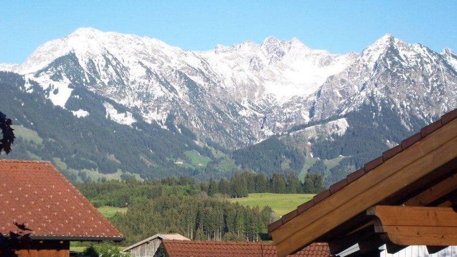 Ferienwohnung Himmelreich, Blick vom Balkon