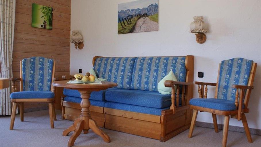 Sitzgruppe Wohnung 1 - Haus Bergsicht, © Haus Bergsicht - Fischen i. Allgäu