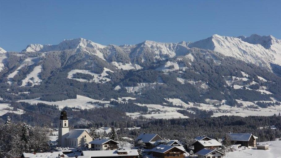 Winterlandschaft Ofterschwang, © Alpen Lodge Allgäu - Ofterschwang