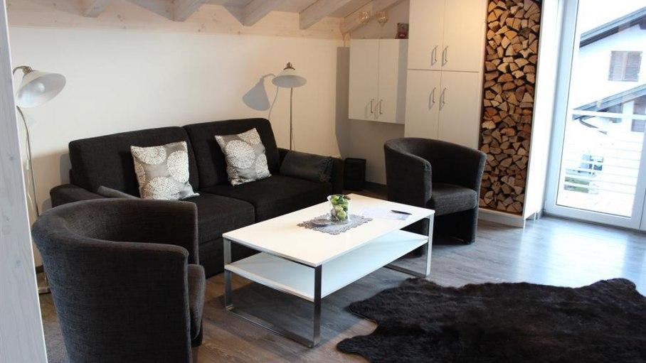 Wohnzimmer, © Bergblick Lodge - Ofterschwang