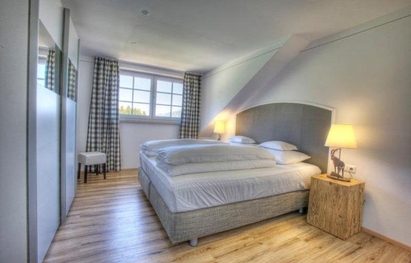 Ferienwohnung Alpentraum - Schlafzimmer, © Alpen Lodge Allgäu - Ofterschwang