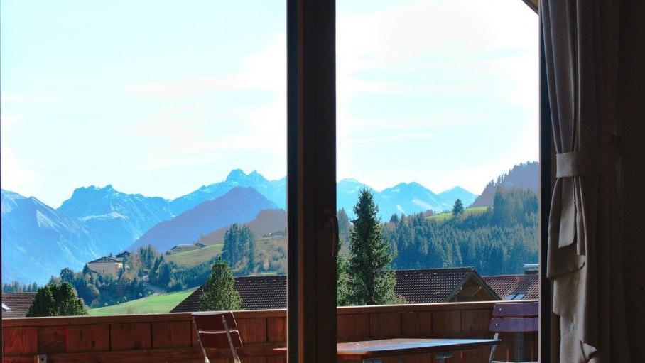 Blick auf den südlichen Alpenkamm