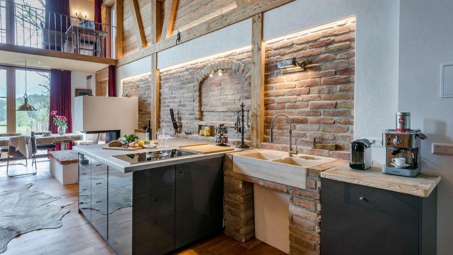 Premium Lodge - Traumküche, © Das Talgut - Ofterschwang