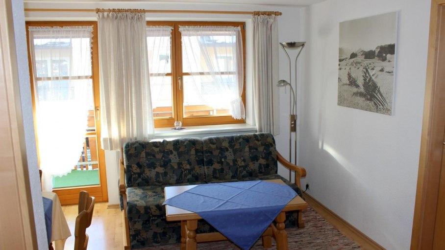 Ferienwohnung 4 - Wohnraum, © Gästehaus Hagelmüller - Fischen i. Allgäu