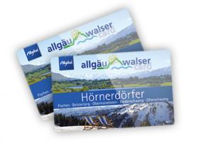 Die Allgäu-Walser-Card - Ihre Hörnerdörfer Gästekarte für viele kostenfreie und ermäßigte Leistungen in den Hörnerdörfern, dem Allgäu und dem Kleinwalsertal.