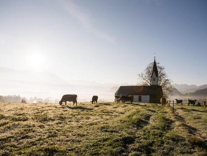 Hörnerdörfer-Idyll an der Bolsterlanger Kapelle, © Tourismus Hörnerdörfer
