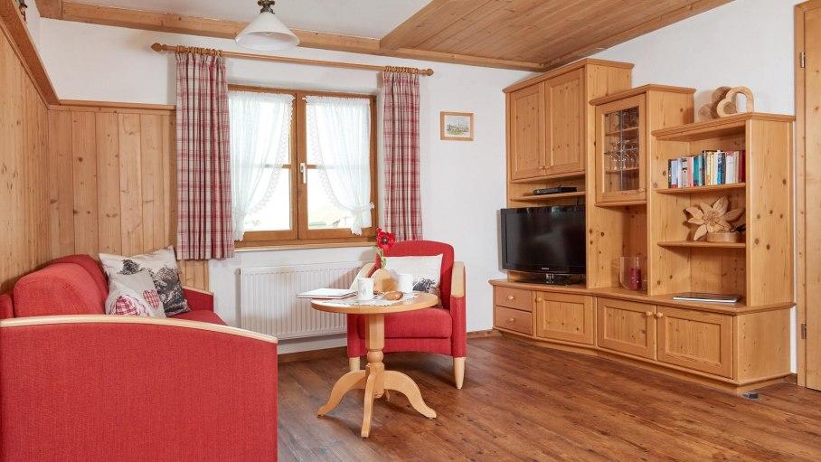 Wohnzimmer Waldbeere-Haus Bergland, © Cocett