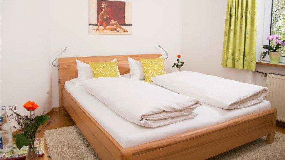 Appartement 1 - Schlafzimmer, © Gästehaus Kanstein - Ofterschwang
