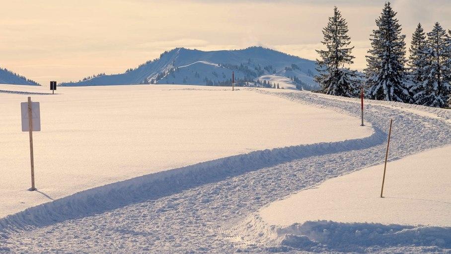 Winterspazierweg um das Ofterschwanger hörn