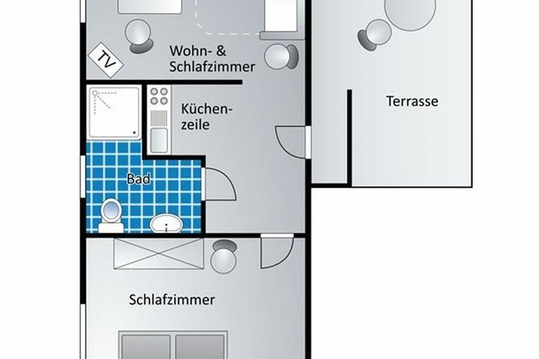Appartement 1 - Grundriss, © Gästehaus Kanstein - Ofterschwang