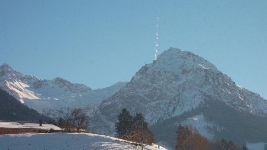 Blick auf das Rubihorn im Winter, © Ferienhaus Enzian - Fischen i. Allgäu