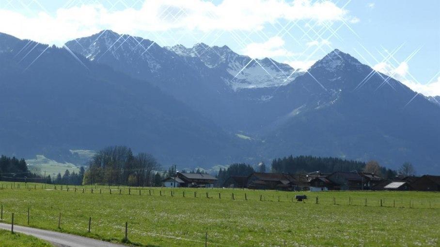 Von rechts Rubihorn, Nebelhorn, Entschenkopf